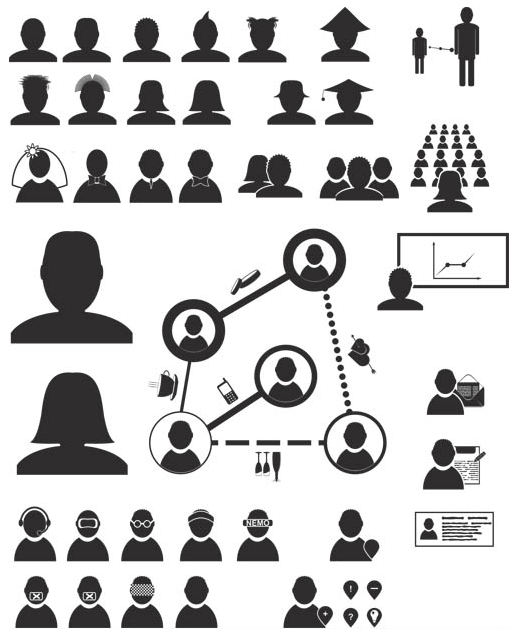 Business People Icons 11 vector graphic