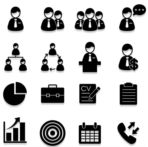 Business with People Icons vectors graphics