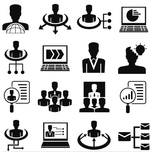 Business People Icons 15 vectors graphic