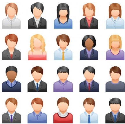 Business People Icons Free vector graphics