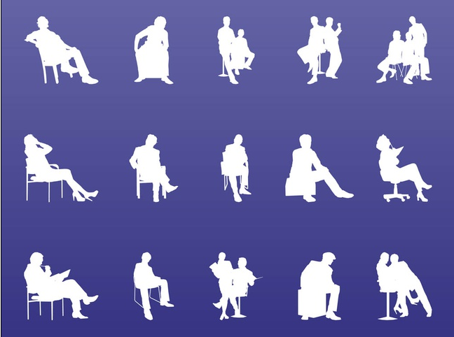 Traveling People Silhouettes Vector Art Graphics: Business People Silhouette Graphics Vectors Free Download
