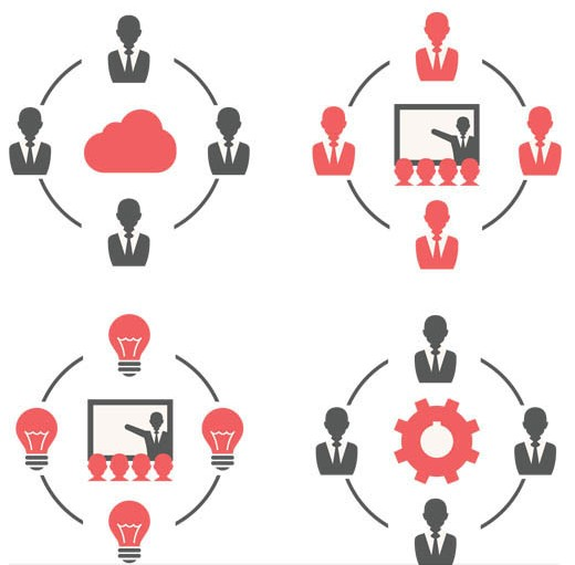Business People Symbols 2 vector graphics