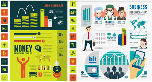Business Shiny Infographics vector