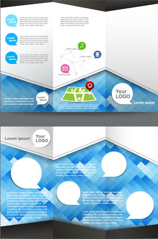 Business Tri fold Brochures vector graphics