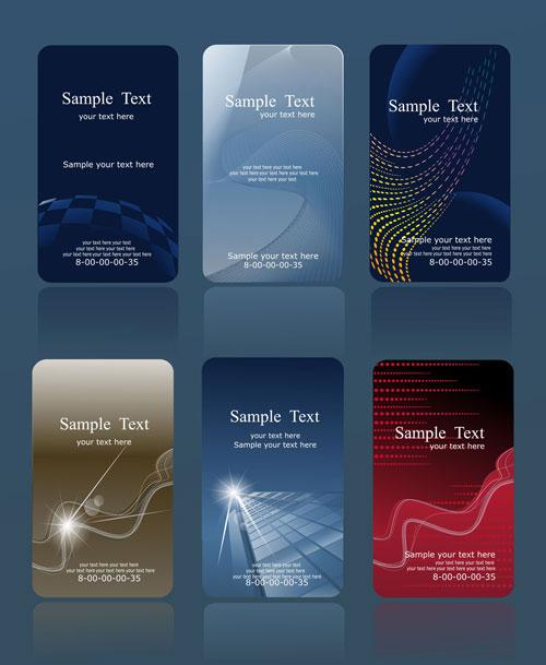 Business cards set vectors graphic