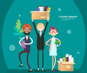 Business people funny design vectors material 01
