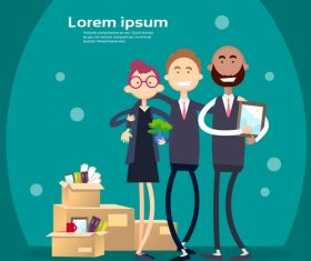 Business people funny design vectors material 05