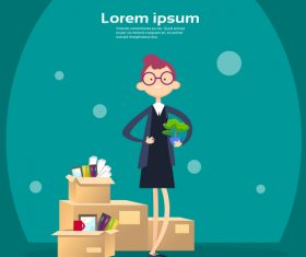 Business people funny design vectors material 08