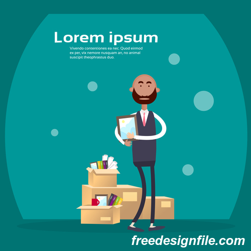 Business people funny design vectors material 09