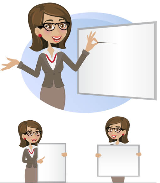 Business woman Set vector