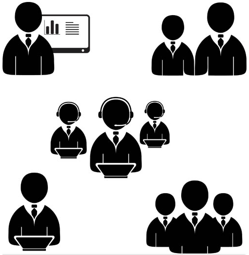 Businessman Icons Mix 3 vector