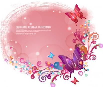 Butterflies background pattern vector