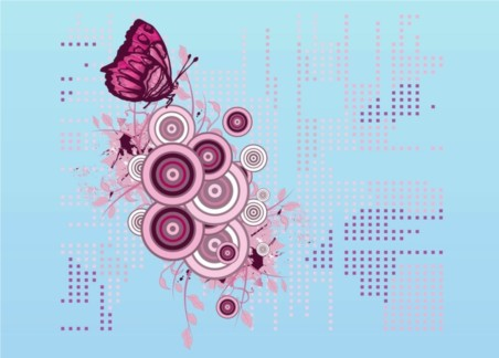 Butterfly Decoration vectors graphic