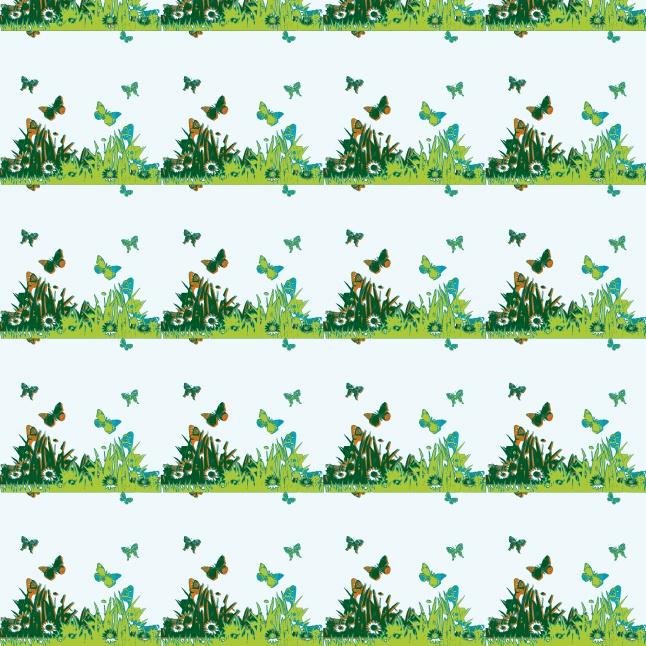 Butterfly border set creative vector