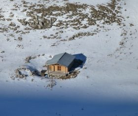 Cabin in the snow Stock Photo 08