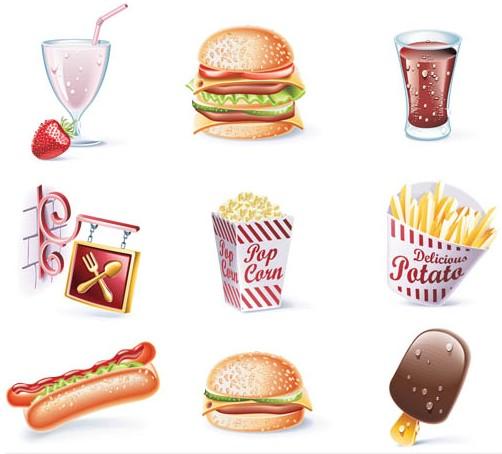 Cafe Food and Drink design vectors