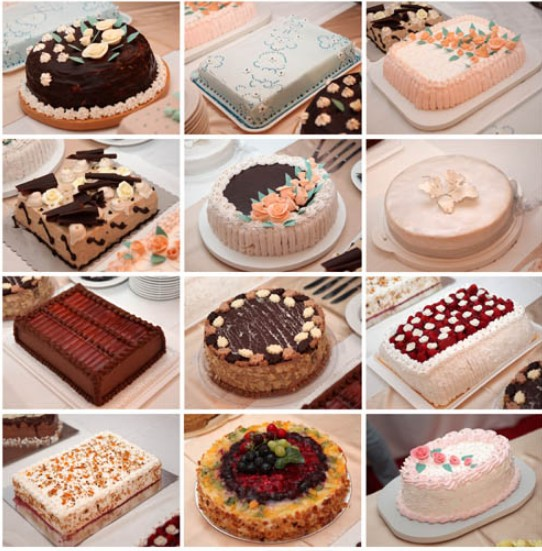 Cake Collage free vector