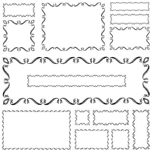 Calligraphic Ornament Frames art vectors