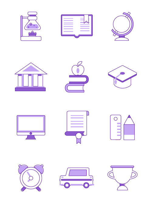 Campus element icon vector