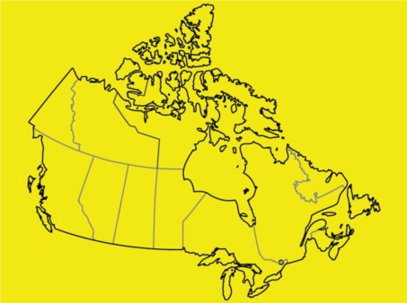 Canad Map vector material