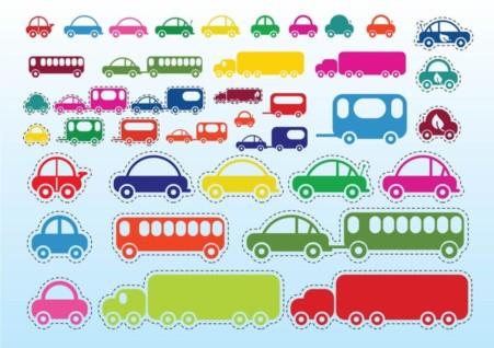 Car Bus Truck vector