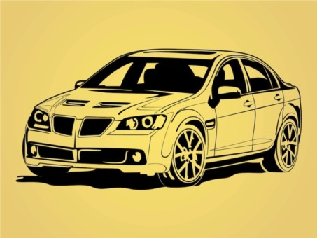 Car Outlines vector