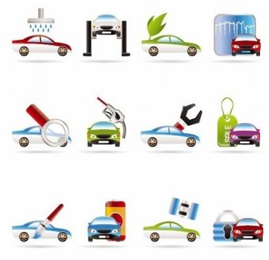 Car Services Icons vector design