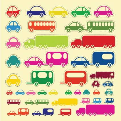 Car Truck Bus vector