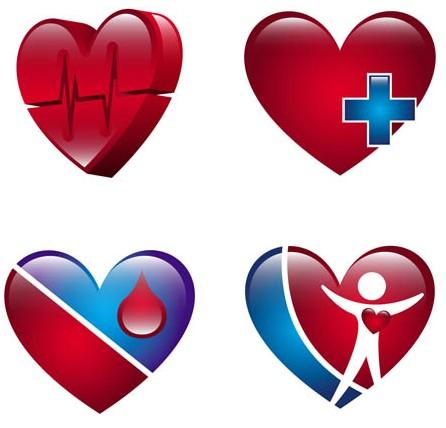 Cardiological Logo vector set