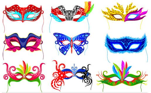 Carnival Masks vector design
