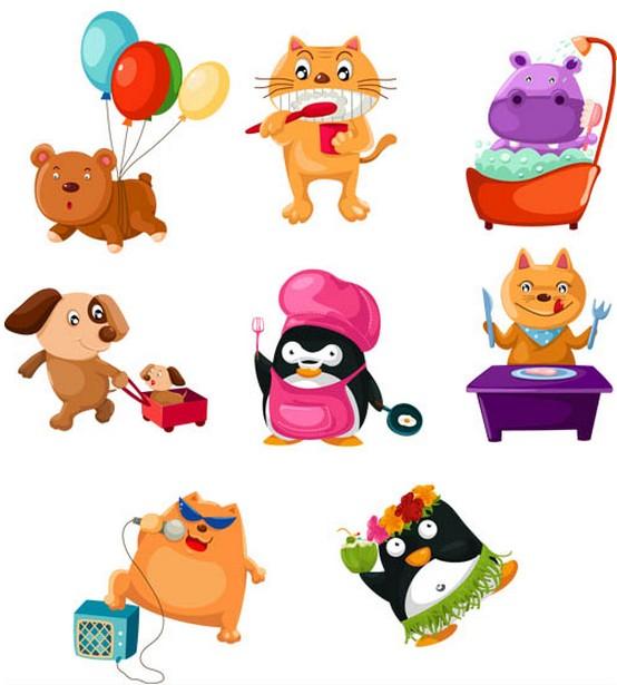 Cartoon Animals free vector