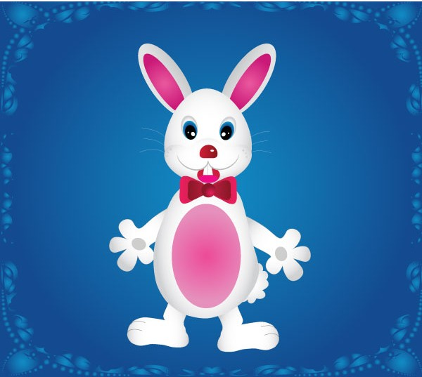 Cartoon Bunny Rabbit Free Vector vector