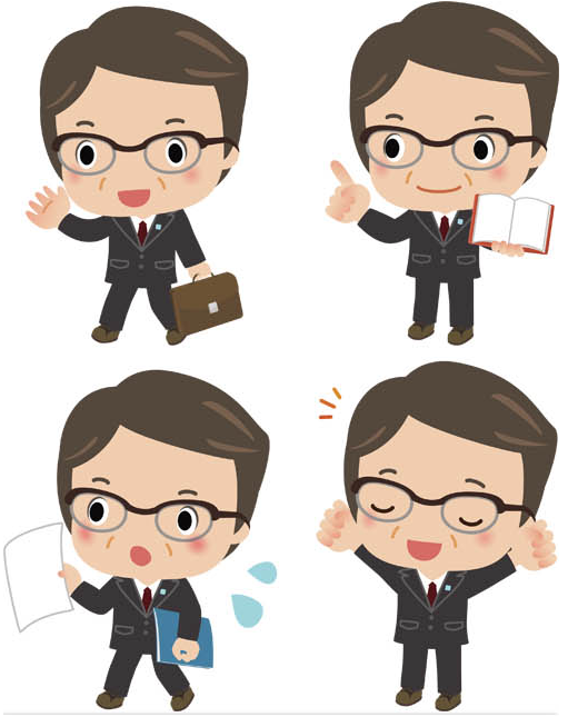 Cartoon Business People 4 vector