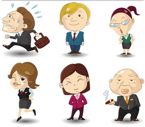 Cartoon Business People 7 vector