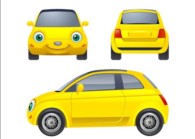 Cartoon Car Character vector