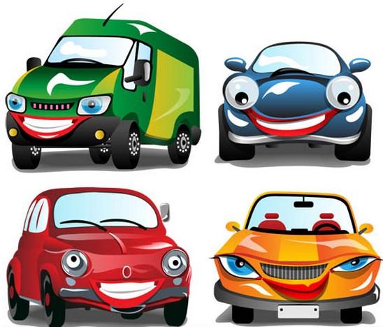 Cartoon Cars free set vector