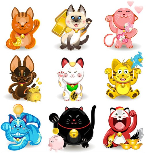 Cartoon Cats free vector graphic