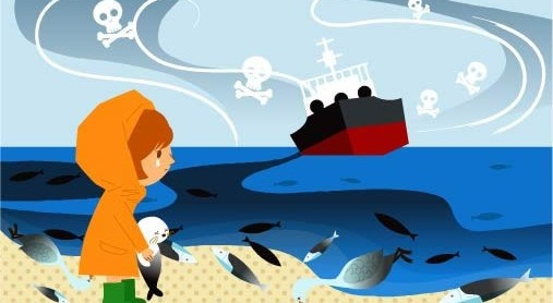 Cartoon Childrens with ecological environment 9 vector