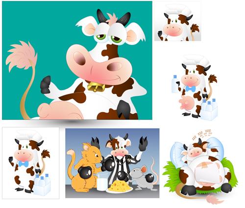 Cartoon Cow vector graphics