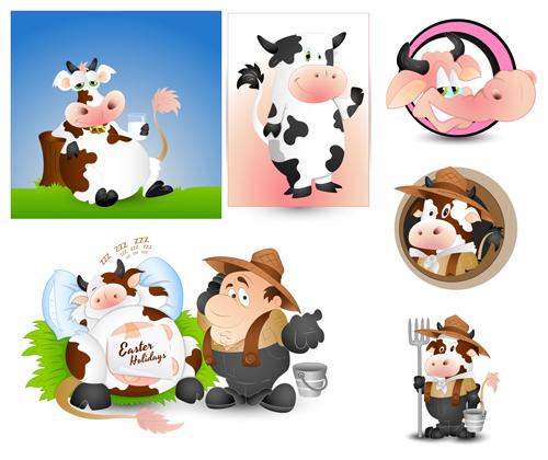 Cartoon Dairy Cow vector