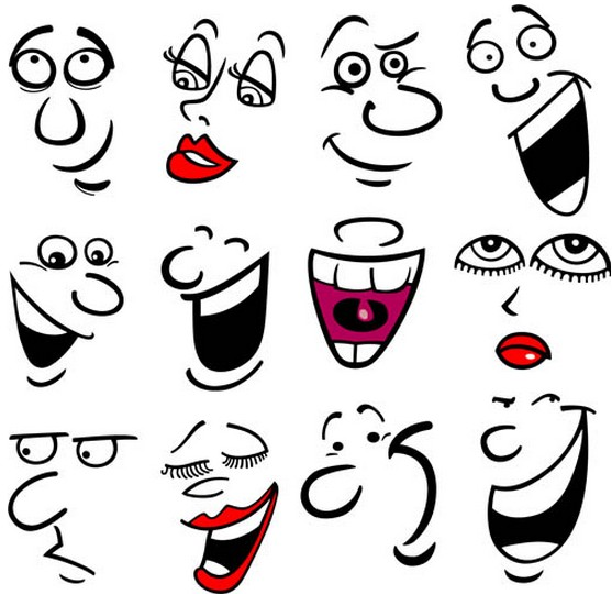 Cartoon Faces graphic vector