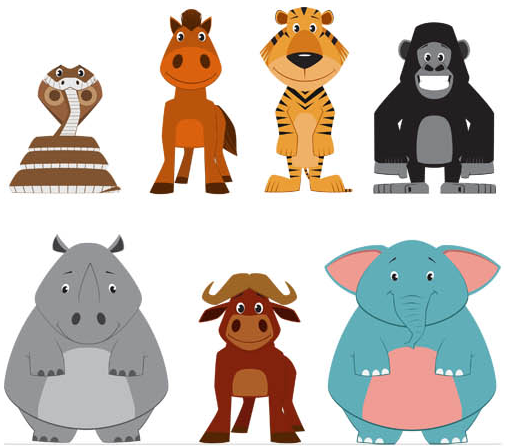 Cartoon Funny Animals Set 2 vector