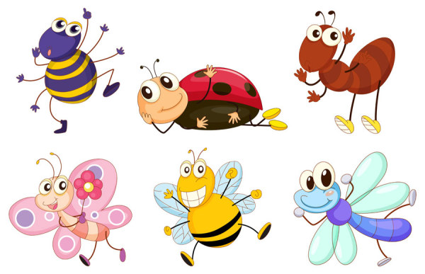 Cartoon Insect free 10 vector