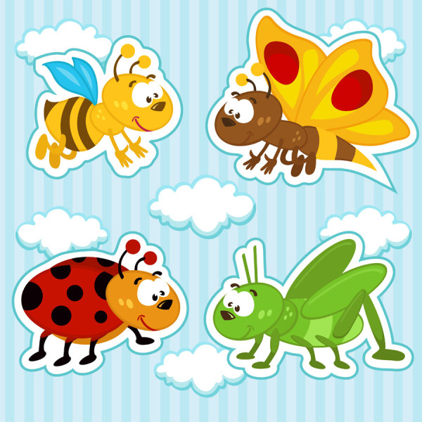 Cartoon Insect free 11 vector