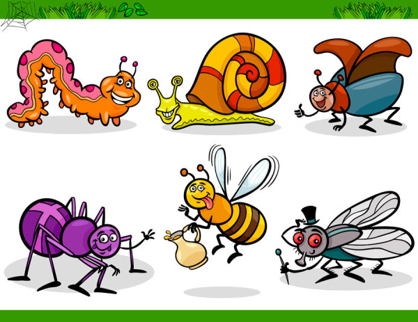 Cartoon Insect free 12 vector