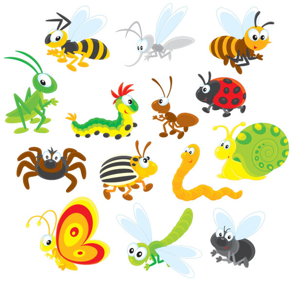 Cartoon Insect free 13 vector