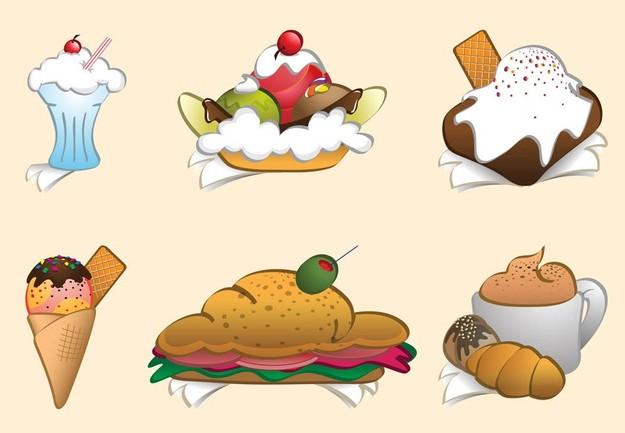 Cartoon Meals art vector