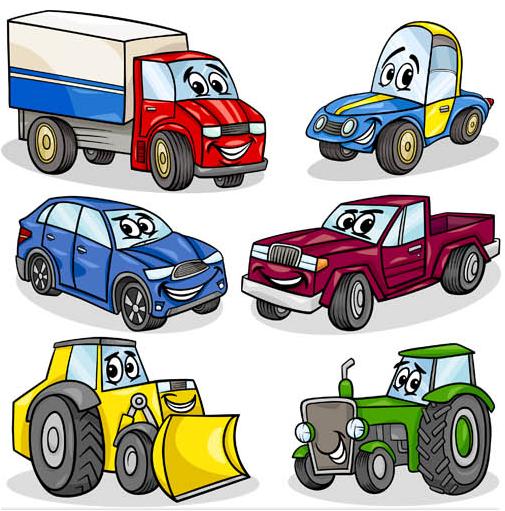 Cartoon Transport Set vector graphics