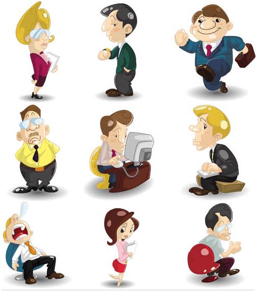 Cartoon Working People vector