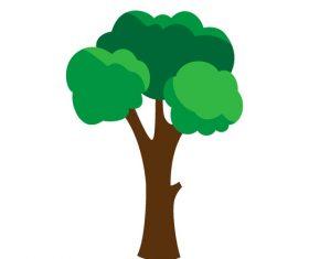 Cartoon big tree vector